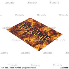 Welcome your trick-or-treat and neighbors to your home with this Halloween Themed Fire Welcome Mat! ~~ Fire and Flame Pattern Halloween Doormat by #igotyourback -ground and  #Gravityx9 Designs