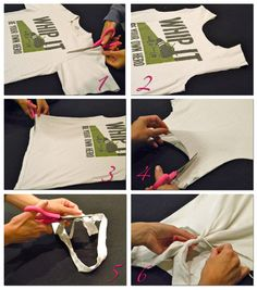 how to make a tank top out of an old t-shirt...no sewing involved!
