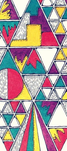 90s pattern, art piece in pen and pencil, close up