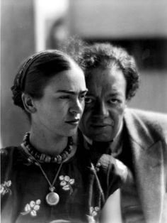 Frida Khalo and Diego Rivera | Hijaktaffairs.Tumblr.com
