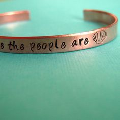 """Must have! Little Mermaid bracelet says """"I wanna be where the people are"""" #jewelry #bracelet #disney"""