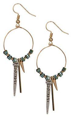 fc23a2b3172b SPUNKYsoul Tribal Gold Boho Chic Ethnic Vintage Hoop Circle Fishhook Dangle  Earrings for Women and Girls