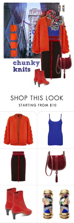 """""""Chunky Cardigan"""" by valeria-meira ❤ liked on Polyvore featuring River Island, WearAll, Altuzarra, Steven by Steve Madden, Isabel Marant, Asch Grossbardt, Chico's and chunkyknits"""