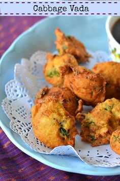 Cabbage Vada :: Deep fried Lentil Fritters :: South Indian Vada recipe – The Veggie Indian