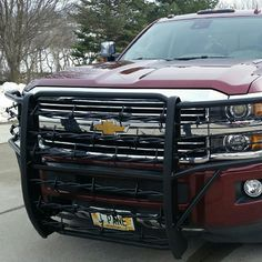 Hand-forged Big Barbs Full Grill Guards for this Chevy and other makes have a durable powder-coated finish. All brackets and hardware included for an easy bolt-on application!  Functional and decorative!  Custom sizes, colors and styles available!