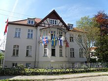 Gebäude des Instituts für Fennistik und Skandinavistik in der Hans-Fallada Straße in Greifswald.