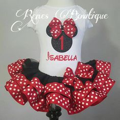 Set de Tutu de Minnie Mouse cinta por RenesBowtique en Etsy