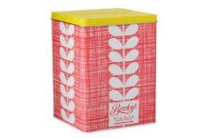 Love: Orla Kiely tea tin.
