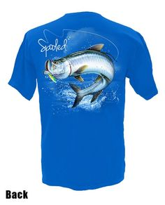 Spooled Tarpon, Short sleeve Gildan 100% cotton, ultra 5.3 oz double-needle sleeve and bottom hem, machine washable.