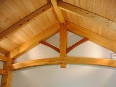 Attractive King post truss with braces of a different timber