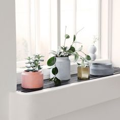 Concrete Pot (Dark Grey, Small) Designed by Trine Andersen | ferm Living available at Modern Intentions. Shop here for designer, modern home accessories!