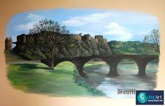 Muurschildering Bouillon in restaurant