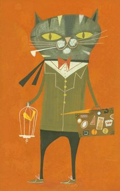 Maurice goes on holiday. Limited edition print by Matte Stephens.