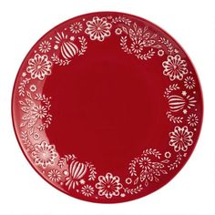 Red Jolly Hearts Dinner Plates Set of 6 by World Market, White Dinner Plates, Dinner Plate Sets, Christmas Placemats, Christmas Decor, Xmas, Holiday Decor, Hosting Thanksgiving, Holiday Looks, Holiday Tables