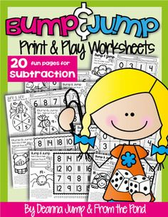 NEW!  Bump & Jump Subtraction Fun!  {Easy, Differentiated Math Games} by Deanna Jump