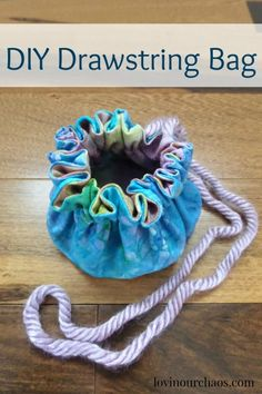 DIY Drawstring Bag - Quick, simple and only a few supplies!