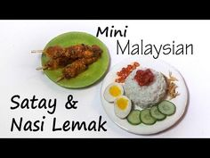 Malaysian Miniature Satay & Nasi Lemak - Polymer Clay Tutorial - YouTube