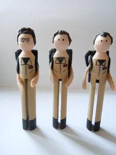 Ghostbusters Clothespin Dolls by theClothespinEffect on Etsy, $30.00
