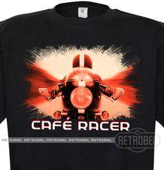 Men's T-shirt Café racer Mens Biker T-shirt100%