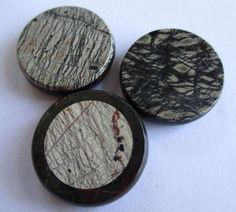 3 BEAUTIFUL LARGE VINTAGE GLASS BUTTONS MARBLE EFFECT noelhumphrey on eBay.co.uk