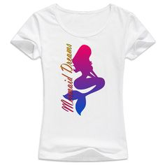 Mermaid dreams T-Shirt  Create a life that you don't need a vacation from with Royal Mermaid & The Captain! We specialize in personalized products and incredible customer service. RoyalMermaid.com #royalmermaid #thecaptain #nomoredryskin #soothing #eczema #hormonesafe #pcossafe #pcos #psoriasis #shopsmall #gifts #birthday #bathfizzies #cleanser #skinpolish #mermaid #mermaidcreme #seasoak