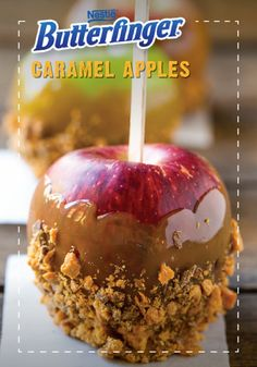 Nothing screams fall quite like the sweet and gooey delight of Butterfinger Caramel Apples. Add a crispety, crunchety, peanut-buttery twist by rolling these homemade no-bake caramel-covered treats in crushed up BUTTERFINGER® candy bars. This quick and easy and fun-to-eat apples are a special treat for everyone and are a must-have at your Halloween party.