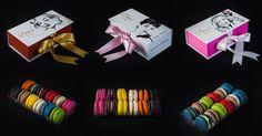 3 különböző boxunk 3 különféle macaronválogatással  www.divascake.hu