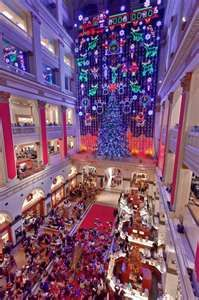 Wanamaker's Department Store Christmas Light Show