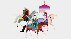 Rob Bailey's minimal graphic illustrations. Enjoying the colours and abstracted forms.