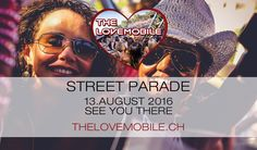 Ticket for The Lovemobile at Street Parade by Tito Torres Ticket, Techno, Movies, Movie Posters, Street, Nice View, Culture, Life, Films