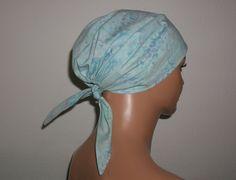 """Kopftücher - Kopftuch """"Ella"""" in Hellblau, Batik - ein Designerstück von beHUETE-dich bei DaWanda"""