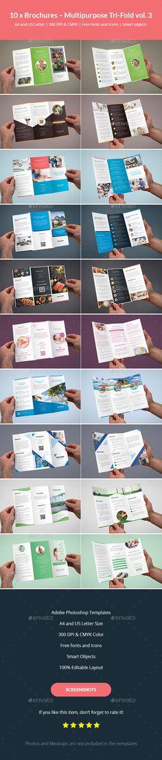 Brochures – Multipurpose Tri-Fold #Bundle vol. 3 - Corporate Brochures Download here: https://graphicriver.net/item/brochures-multipurpose-trifold-bundle-vol-3/20214867?ref=alena994