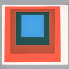 Josef Albers 1 of 9 Screen-Prints Serigraph, 1977 Germany Limited 1.500 Josef Albers, Silk Screen Printing, Paper Size, Art Gallery, Weaving, Germany, Wall Decor, Orange Brown, Space Age