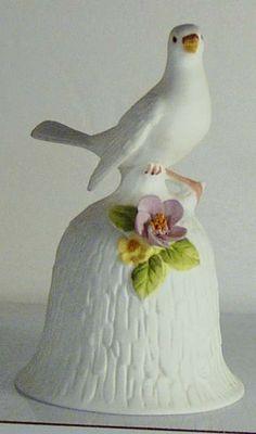 RP: Vintage Porcelain Dinner Bell - White Dove etsy.com