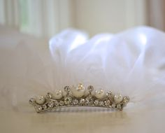 First Communion Veil Communion Headpiece Holy by CouturesbyLaura