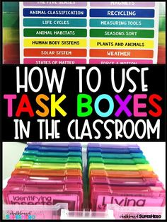 Are you looking for task boxes, work bins for your independent work station or centers!  This blog post tells you all the different reasons why I lOVE using task boxes in my special needs classroom.  Especially students with autism love the sensory input
