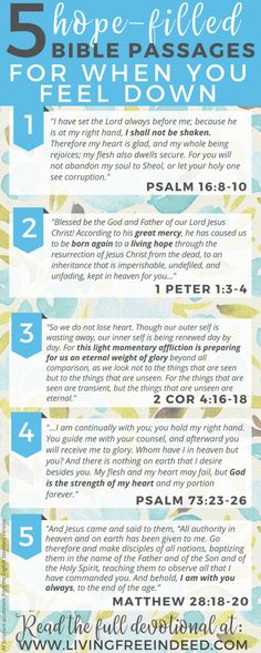 Here are 5 passages to meditate on during downcast days - to savor who Jesus is and soak in priceless hope! Remembering the Gospel brings the greatest joy.   Bible Verses for Hope   Verses for When You're Sad   Bible Verses To Encourage   Gospel Bible Verses   Scriptures for Sad Days   Bible Verses for When I'm Tired