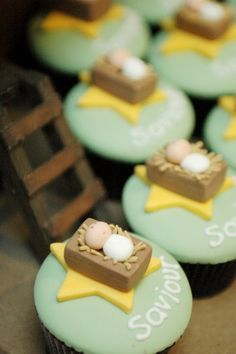 the cupcake gallery - christmas - baby jesus cupcakes