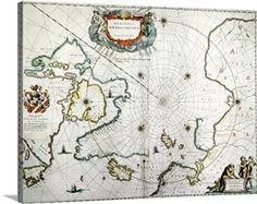 Arctic, 17th century map
