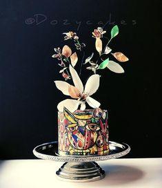 Hoot! Colorful Owl Cake by Dozycakes