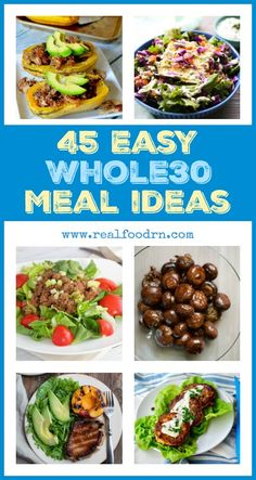 Doing a does not have to be hard, and the food does not have to be bland! Here are 45 recipes that are easy and delicious, all in one place! Pin this one for an easy reference. Clean Recipes, Paleo Recipes, Whole Food Recipes, Cooking Recipes, Easy Whole 30 Recipes, Alkaline Recipes, Easy Recipes, Whole 30 Diet, Paleo Whole 30