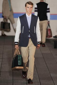 Tommy Hilfiger SS2012 - varsity jackets styled up with lapels