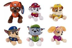 Paw Patrol Bundle of 6 Plush Rocky Zuma Skye Rubble Chase Marshall, Each Paw Patrol can be purchased separated but this bundle will include all six produced. Each Paw Patrol Plush has the factory tag attached. Paw Patrol Plush, Paw Patrol Toys, Paw Patrol Party, Best Christmas Toys, Kids Tv Shows, Best Kids Toys, 3rd Birthday, Bowser, Dogs And Puppies