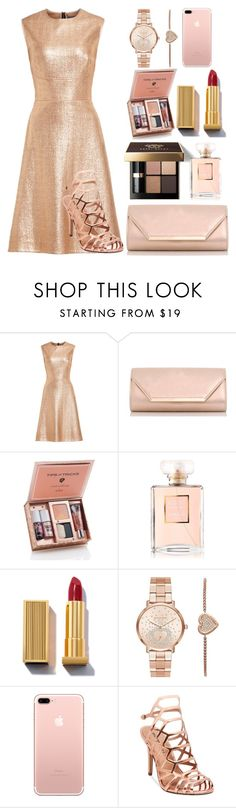 """""""That Woman Is a Gold Digger"""" by magriatrix ❤ liked on Polyvore featuring Lela Rose, Dorothy Perkins, Bobbi Brown Cosmetics, Chanel, Michael Kors and Madden Girl"""