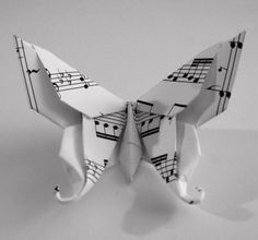 10 mariposas de Origami 3D de cola de golondrina por PullingPetals