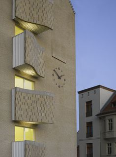 Balconies, Centre, Education, Architecture, Health, Projects, Verandas, Log Projects, Salud