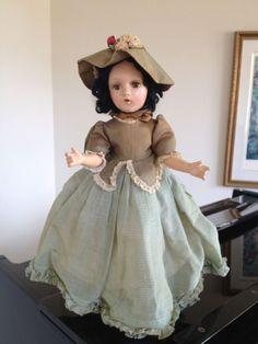 "Vintage Madame Alexander  VERY RARE 20""  size composition Scarlett O'Hara"