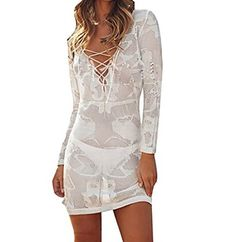 New Bestyou Women's Lace-up Crochet Knit Top Bathing Suit Cover Up Tunic Swimwear online. Find the perfect La Fleva Swimsuit from top store. Sku DYON15973UHUH41948