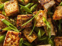 tofu, soja, huile, moutarde, ail, herbes de Provence