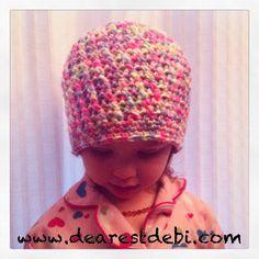 Crochet Cross Stitch Toddler Beanie